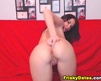 Babe Sucks and Fucks her Pussy with Dildo