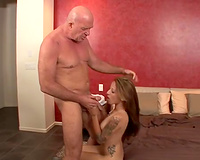 Tattooed seductress blows and acquires her vagina pounded nicely