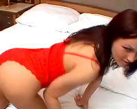 Magnificent cute redhead slutty wife strips and puts small 10-Pounder in her mouth