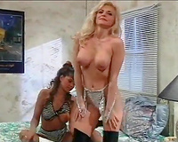 Incredibly seductive MILFs perform vehement lesbo sex scene
