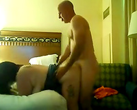 Brutal gazoo fucking my insatiable bulky BBC slut doggystyle in bedroom