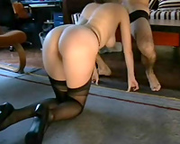 Obedient white milf horny white wife can't live without engulfing my pecker in doggy style