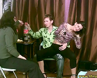 Two immodest like mud sinful brunette hair whores undress for favourable dude
