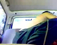 Seducing amateur Indian cutie for sex in the car on livecam
