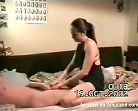 Kinky sex tape of lascivious dark brown girlfriend getting drilled hard