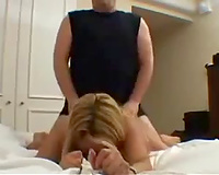 Gorgeous blond MILF groaning loud when I fuck her doggy style
