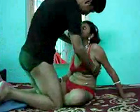 Horny chap fully utilizes his juvenile Indian black cock sluts in the bedroom