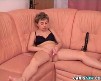 I think my white bitch can't live without pleasuring her cunt with her massive dark dildo