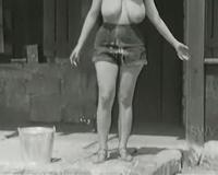 Full bosomed girlie with marvelous ballrooms starves for harsh hammering