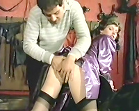 Naughty milf Madame X is addicted to BDSM in her garage