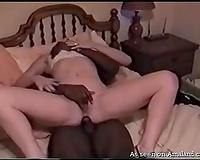 Horny kinky auburn babe goes interracial to be analfucked properly