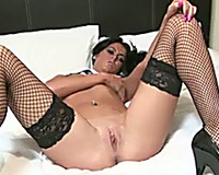 This sexy tart likes lollipops and that babe can't live without flashing her intimate parts