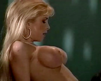 Pale skinned mama Jeanna is drilled doggy style in hardcore interracial fuck movie scene