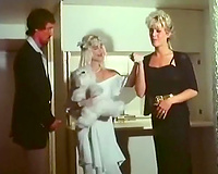 Hot italian retro porn with 2 white-haired doxies and brunet guy