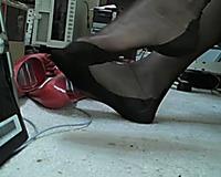 My slutwife looks very tempting wearing her high heel shoes