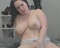 big beautiful woman Chick Double Dildo Blowjob And Masturbation
