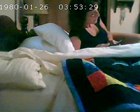Hidden web camera in the bedroom caught my older BBC slut another time