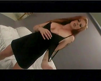 Charming breasty redhead playgirl sprips in livecam and blows rod