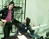 Female hot police officer got her muff team-fucked by her coworker