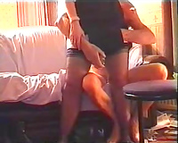 Fingering and toy fucking juicy bawdy cleft of my hawt black cock sluts