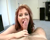 My excited European amateur wife giving me a good oral job on POV
