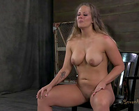 White playgirl Holly Heart submitted to 2 BDSM male masters