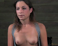 Cute and hot bitch Rayne looks cheerful after BDSM threesome
