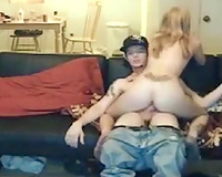 My naughty and playful gf rides my hard 10-Pounder in cowgirl style