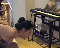 Femdom butt drubbing workout of non-professional strumpets is get to see