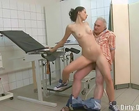 Old kinky fellow enjoyed to fuck a youthful sweetheart in his office