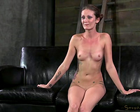 Hailey Young bound and drilled on the ottoman mercilessly
