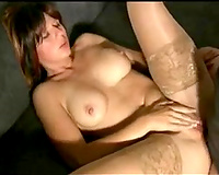 Oiled up mama with juicy jugs craves me to fuck her butt
