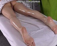 Divine dark brown princess receives her taut twat pushed well