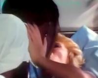 Black guy seduces white golden-haired playgirl for impure sex