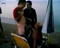 Drunk Greek aged mamma sucks my curly wang at the beach