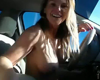 This sexy cam model is for real and this babe can't live without masturbating in her car