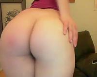 Naughty preggo girlfriend masturbating with sex toy