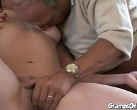Redhead white horny white wife having fun with freaky aged pair