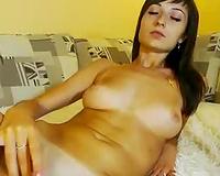 Dark haired svelte all lonely cam beauty enjoyed her carnal masturbation