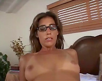 Engaging brown-haired milf receives her butt ripped apart by a dark fellow