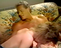Horny retro playgirl with suspension titties blows wang and receive fucked