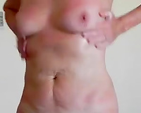 Just my German cougar cheating wife naked and hairless in the hotel room