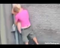 Extreme public sex in the street daytime voyeur clip