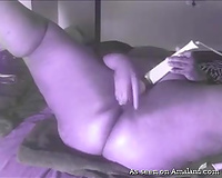 Colorful masturbation solo show performed by plump horny nympho