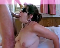 Milfie enjoyable girlfriend is so lustful in blindfold facefucking
