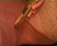 Interesting handsome nerdy doxy shows her forms on livecam