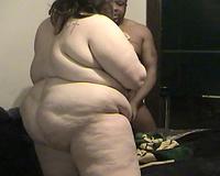 Whale sized big beautiful woman BBC slut of mine receives doggyfucked by BBC