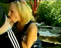 Cum-addicted blond bitch gives me one hell of a blow job