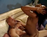Horny ghetto bitch receives her vagina screwed and screwed