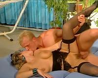 Insatiable white blonde milf having ardent sex